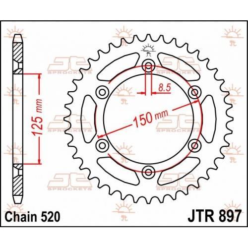 Corona Acero JT KTM /...