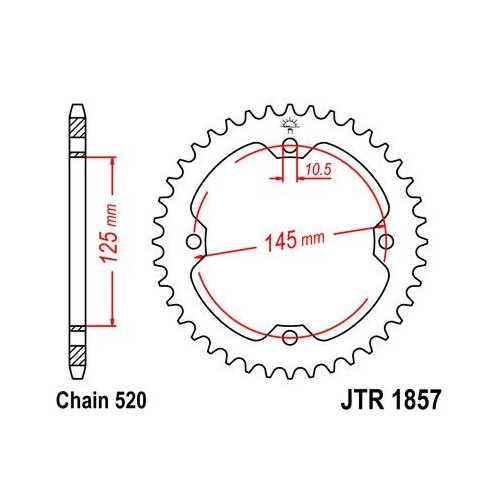 Corona Acero JT Yamaha...