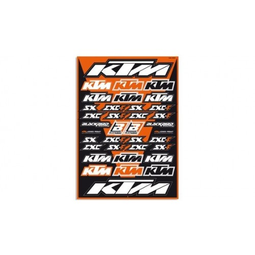 Lámina Adhesivos KTM...