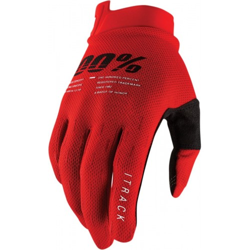Guantes 100% ITRACK RED