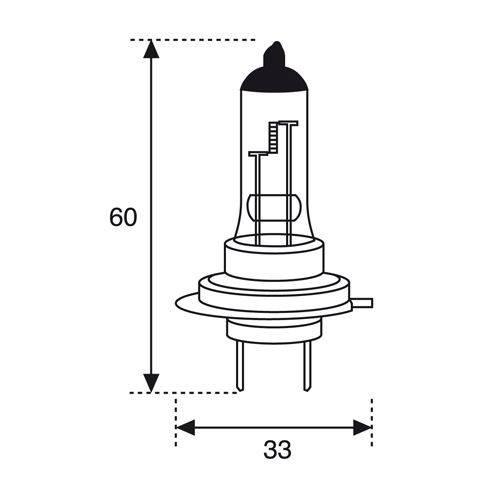 Lámpara 12V 55W H7